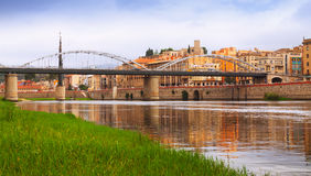 Day view of Ebre in Tortosa. Catalonia royalty free stock photography