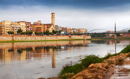Day view of Ebro in Tortosa Stock Photography