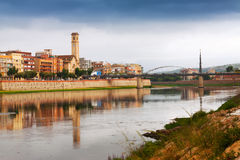 Day view of Ebro in Tortosa Stock Photos