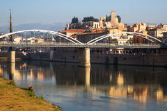 Day view of Ebro   Tortosa.  Spain Royalty Free Stock Images