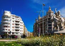 Day view  of   Euskadi square Plaza  in San Sebastian Royalty Free Stock Photography