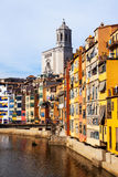 Day view of   in Girona. Catalonia, Spain Stock Image
