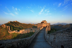 Day view of The Great Wall China Royalty Free Stock Photo