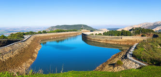 Day view of   Guadalhorce-Guadalteba reservoirs Royalty Free Stock Photos