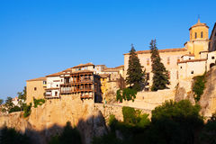 Day view of Hanging houses   in Cuenca Royalty Free Stock Image