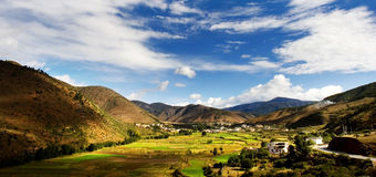 Day view of highland at Derong of Sichuan. Day view of highland at Derong villages of Sichuan Province China royalty free stock photography