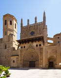 Day view of Huesca Cathedral Stock Photography