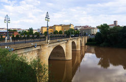 Day view of Logrono. Puente da Piedra Stock Photography