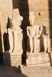 King statue at Luxor temple. Day view of Luxor Temple Luxor, Egypt royalty free stock image