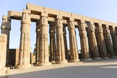 Archaeology of Luxor Temple - Egypt. Day view of Luxor Temple Luxor, Egypt royalty free stock photography