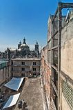 Day view of Mexico City zocalo from roofs Stock Photography