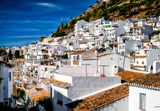 Day view of Mijas. Mijas is a lovely Andalusian town on the Costa del Sol. Spain royalty free stock photography