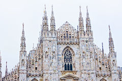 The day view of Milan Cathedral or Duomo di Milano. Italy Royalty Free Stock Image