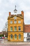 Day view of The Moot Hall building roof in Daventry town centre.  royalty free stock images