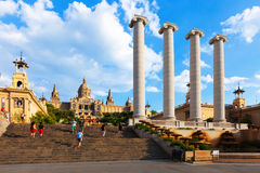 Day view of National Art Museum of Catalonia Stock Photography