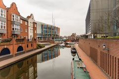 Free Day View Of Boat Canal In Coventry City Centre Stock Images - 90340774