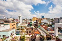Day view of one of the oldest neighborhoods in Ho Chi Minh City Stock Image