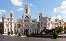 Day view of Palace of Communication in Madrid Royalty Free Stock Image