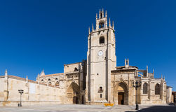 Day view of Palencia Cathedral Stock Images