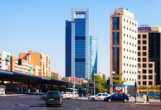 Day view of Paseo de la Castellana.  Madrid, Spain Royalty Free Stock Photo