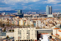Day  view of picturesque Barcelona cityscape Stock Images