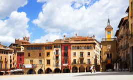 Day view of Placa Mayor in Vic, Catalonia Stock Photography