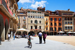 Day view of Placa Mayor in Vic, Catalonia Stock Photo
