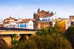 Day view of Plasencia town with Cathedral Royalty Free Stock Images