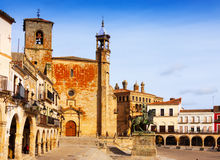 Day view of   Plaza Mayor. Trujillo. Spain Royalty Free Stock Images