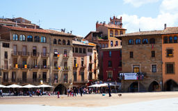 Day view of Plaza Mayor in Vic Stock Images