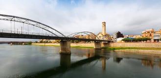 Day view of Pont de l'Estat over  Ebre Stock Images