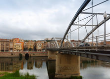 Day view of Pont de l'Estat over over Ebre in Tortosa Royalty Free Stock Images