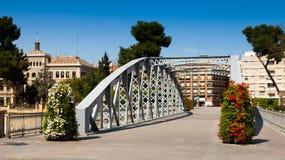 Day view of Puente Nuevo over Segura. Murcia Stock Photography