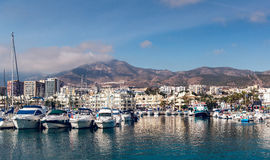 Day view of Puerto Marina Royalty Free Stock Photography