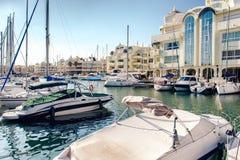 Day view of Puerto Marina Stock Image