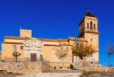 Day view of Santa Maria la Mayor in  Alcaudete Royalty Free Stock Image