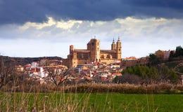 Day view of Santa Maria la Mayor church in  Alcaniz. Spain Stock Images