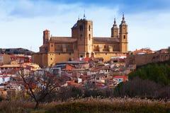 Day view of Santa Maria la Mayor church in  Alcaniz. Spain Stock Image