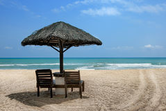 Day view of seaside. Day view of sand beach in Malaysia stock photography
