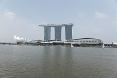 Day view of Singapore Marina Bay Sand Stock Photo