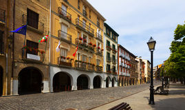 Day view  of street in Estella-Lizarra. Navarre Royalty Free Stock Images