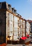 Day view  of street in Vitoria-Gasteiz Royalty Free Stock Photos