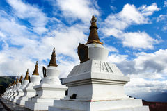 Day view of stupa at Deqing Yunnan Province China. Day view of stupa at Deqing of Yunnan Province China royalty free stock photography