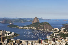 Day view of Sugar Loaf mountain in Rio de Janeiro, Brazil. Royalty Free Stock Photo