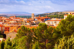 Day view of Teruel with landmarks Royalty Free Stock Photo