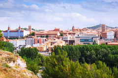 Day view of Teruel with main landmarks Stock Photos