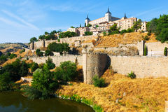 Day view of Toledo from river Stock Photography