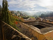 Day view of Tortosa from the Suda castle stock image