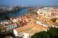 Day view of Tortosa from Suda castle. Catalonia Stock Photography