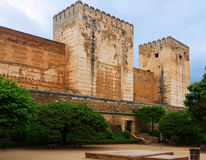 Day view Towers of Alcazaba at Alhambra Royalty Free Stock Images